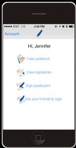 yearbook app homescreen